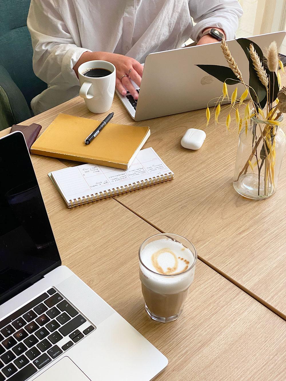 Kreativiteten flödar med en kopp kaffe på vårt favorithak Twentyfourseven.